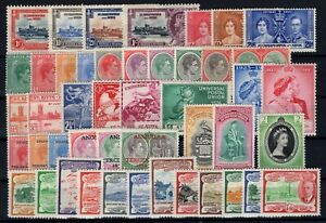 P131470-ST-KITTS-amp-NEVIS-STAMPS-BRITISH-COLONY-LOT-1935-1953-MH-CV-155