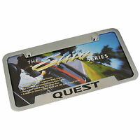 Nissan Quest Chrome Brass Notched License Plate Frame