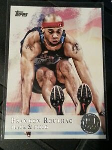 2012-Topps-Olympics-silver-parallel-97-Brandon-Roulhac-track-and-field