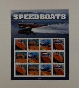 US-SCOTT-4160-63-PANE-OF-12-SPEEDBOATS-STAMPS-41-CENT-FACE-MNH