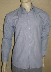BRUMMELL-Taille-43-XL-Superbe-chemise-manches-longues-homme-bleue-coton-shirt