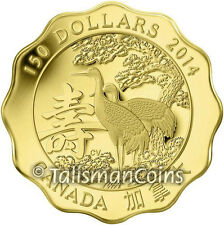 Canada 2014 Blessings of Longevity $150 .99999 Fine Pure Gold Proof Mintage 888!
