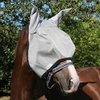 Horseware Mosche Maschera Amigo Fly Mask-silver/navy-