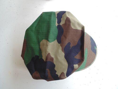 USMC US MARINE CORPS RIPSTOP WOODLAND BDU CAMO COMBAT CAP 8 POINT COVER SIZE SM