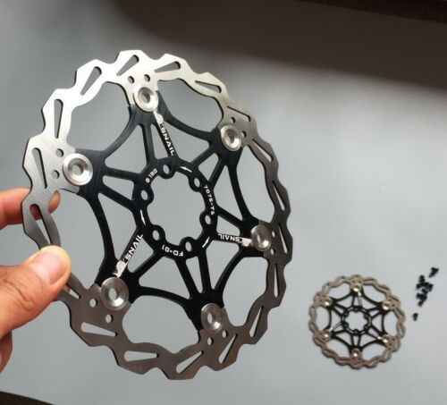 2pcs MTB XC DH bike Bicycle Brake Disc Floating Rotor 160//180//203mm Rotors Black