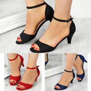 Womens Ladies Low Kitten Heel Wedge