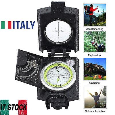 Moschettone Bussola Termometro Metallo Plastica Portachiave Escursioni Montagna