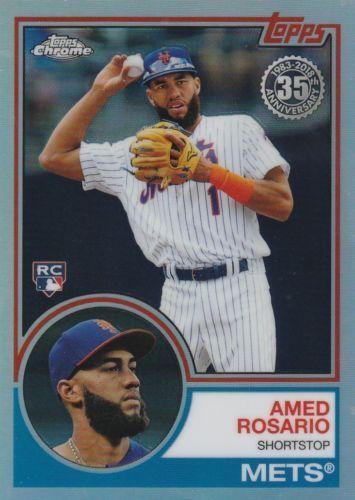2018 TOPPS CROMO REFRACTOR insertar 1983 # 83T-2 Amed Rosario Rc Mets de Nueva York