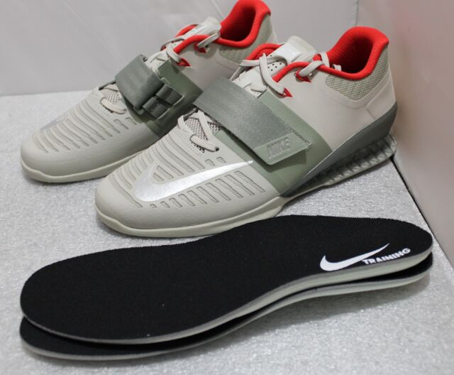 00d9347c4f68d NIKE ROMALEOS 3 WEIGHTLIFTING SHOES SIZE 14 #852933-003 DARK STUCCO - SILVER