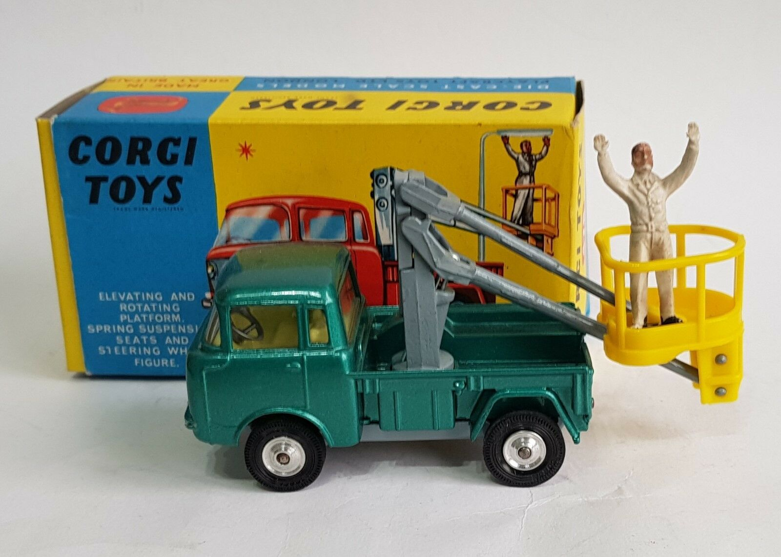 Corgi Toys No. 478, Hydraulic Tower Wagon on Foeward Control Jeep, - Superb Mint