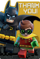 Lego Batman Thank You Notes (8) Birthday Party Supplies Stationery Cards Dc