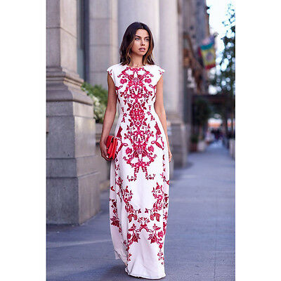 New Women Summer Floral Boho Long Maxi Evening Party Cocktail Prom Chiffon Dress