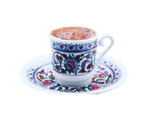 Traditionelle Türkische Mokkatassen Topkapi 12er Set Porzellan Kütahya Porselen