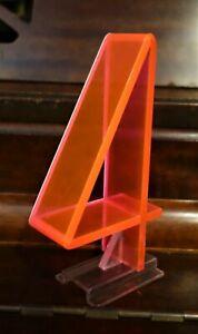 "Vintage Mid Century 1950/'s Retro Neon Orange Pink Fiber Optic Number 8 Eight 5/"""