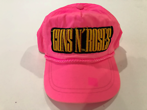 GUNS N ROSES Trucker Hat Embroidered Patch Cap Music Rock Band Mesh Black Retro!
