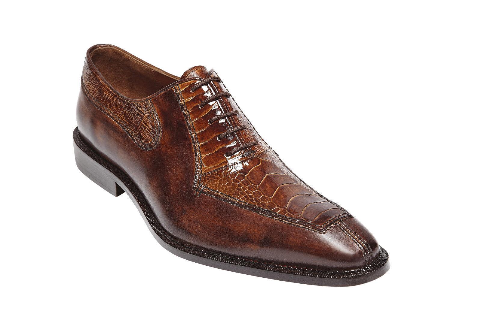 punto vendita Mens scarpe scarpe scarpe Dino Camel Almond Ostrich Italian Calf 0B1 Dimensione 13  nuovo di marca