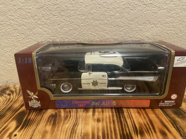 Road Legends 1:18 Scale Diecast 1957 Chevrolet Bel Air Police Chief