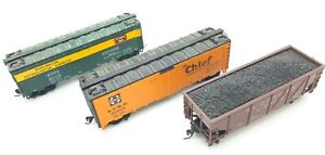 VINTAGE-ATHEARN-HO-SCALE-LOT-3-OLD-STOCK-TRAINS-IN-ORIGINAL-BOXES-REEFER-HOPPER