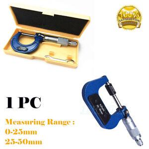 Micrómetro bügelmeßschraube afuera micrometer messschraube 0-25mm/25-50mm