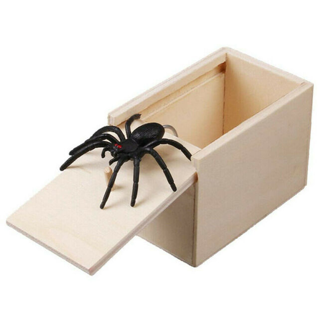 Amish-Made Wooden Surprise Spider Prank Box Toy