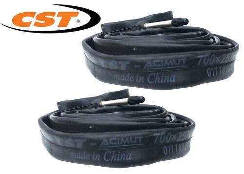 2 X CST bicycle road bike 700X25//32C Tubes Presta 60mm Valve bicycle bike tubes