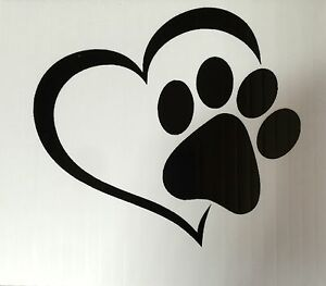 Dog in Heart vinyl Decal Sticker