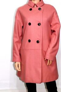 French-Connection-GLORIOUS-WOOL-OVERSIZED-COAT-Desert-Rose-UK10-RRP-175