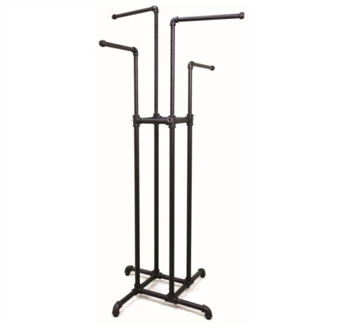 NEW PIPELINE COLLECTION 4 WAY GARMENT RACK BLACK *FREE SHIPPING*