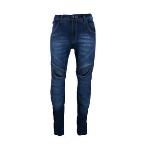 Men-Denim-Street-Motorcycle-Jeans-Knee-amp-Seat-reinforced-Made-with-Kevlar-CE