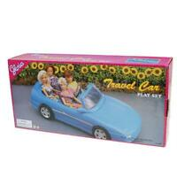 Blue 4-seats Convertible Sports Car Cabriolet Toy For Barbie Ken Prince Doll
