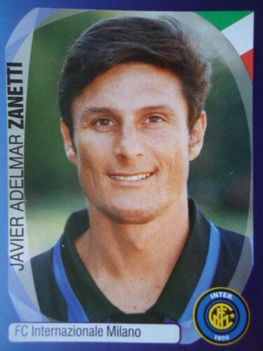 Panini 170 Javier Adelmar Zanetti FC Internazionale UEFA CL 2007//08