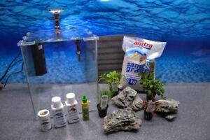 Wave Boîte Cubo 30 Nano Aquarium Inclus Décoration Complet