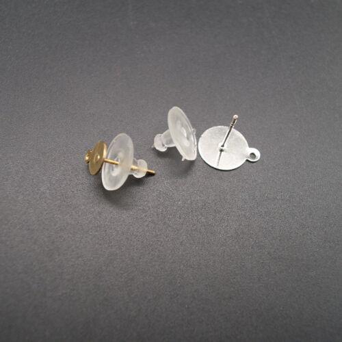 100 Stück Clear Rubber Ohrring Sicherheit Rücken Clutch Ohrring Pad LF