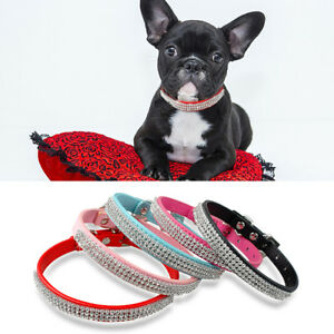 10pcs-Bling-Full-Rhinestone-Small-Dog-Collars-Crystal-Diamond-Buckle-Wholesale