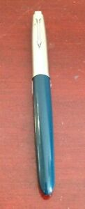 VINTAGE-PARKER-SILVER-GREEN-FOUNTAIN-PEN-MADE-IN-USA