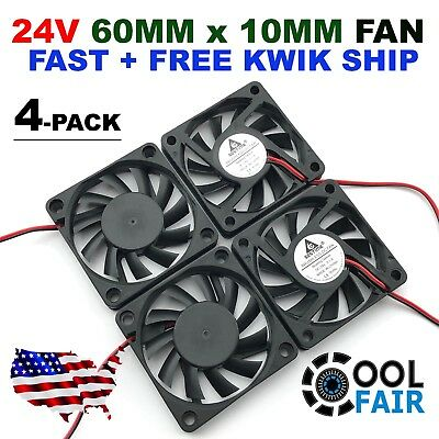 60mm 10mm 24V Cooling Case Fan 6010 PC Computer CPU 6cm 60x60x10mm 2-Pin