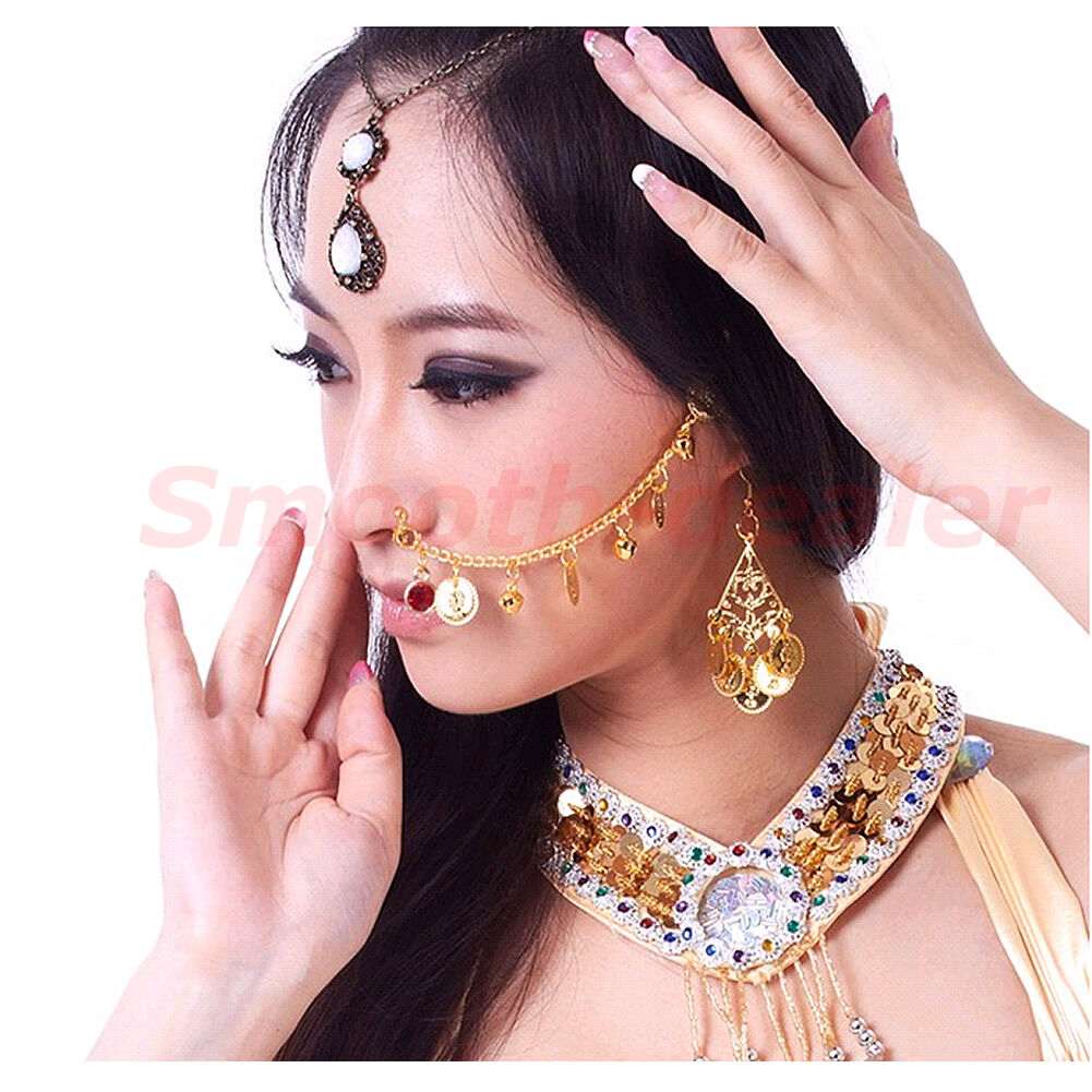 Indian Belly Dance Fashion Jewelry Bridal Wedding Clip on Nose Ring ...