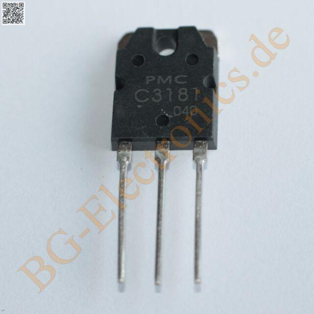 5 x C3181 2SC3181 Silicon NPN Power Transistors TO-3P 120V 8A