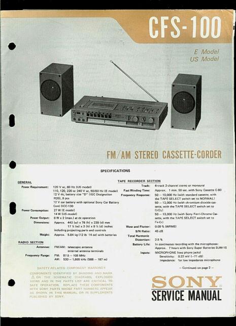 Rare Vintage Sony Cfs