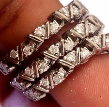 "14k white gold 1.74ct diamond tennis bracelet 14.7g estate vintage womens 7 1/2"""