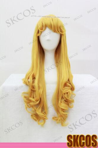 Disney Princess Sleeping Beauty Aurora Cosplay wig costume Gold Colour