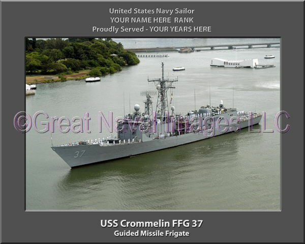 USS Crommelin FFG 37 Personalized Canvas Ship Photo Print 2 Navy Veteran Gift