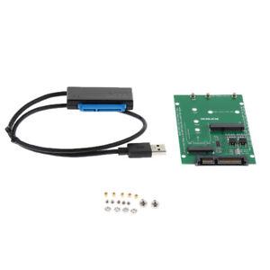 Da-USB-a-SATA-2-5-Hard-Disk-a-2-in-1-Mini-PCI-E-M-2-NGFF-Adattatore-SSD