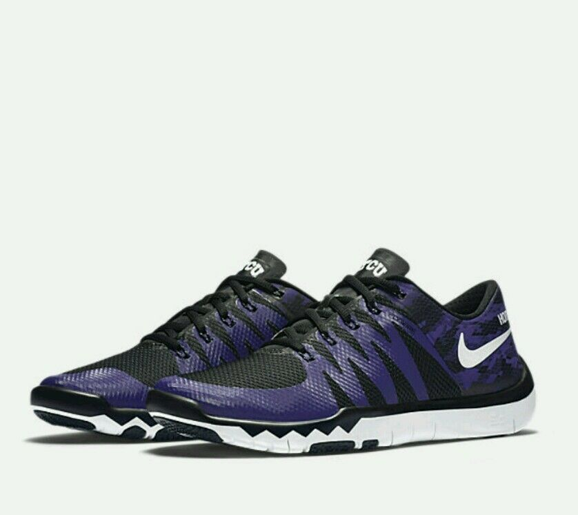 Nike Free Trainer V6 5.0 TCU TCU TCU Horned Frogs Texas Christian 723939-510 Dimensione 7-14 005551