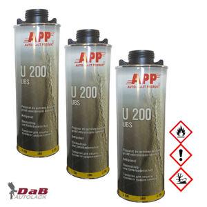 3-x-U200-UBS-Steinschlagschutz-Unterbodenschutz-APP-050101-schwarz-1-Liter