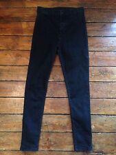 Moto Topshop Joni Skinny Jeans  Black High Waist Sz 8 W26 To fit L32. 140#