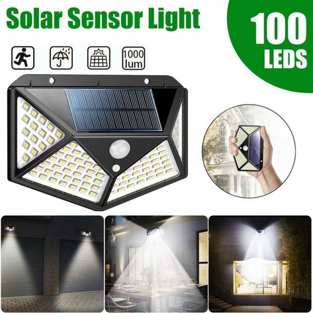 100 Led Solar Ed Pir Motion Sensor Light Outdoor Garden Security Flood Lamp