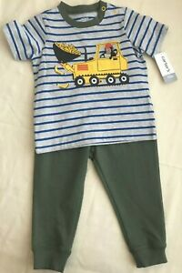 Nwt Carters Baby Boy Clothes 18 Months 2 Piece Tractor Shirt Pants Set Ebay