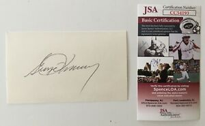 George-Romney-Signed-Autographed-3x5-Card-JSA-Certified-Michigan-Governor-Mitt