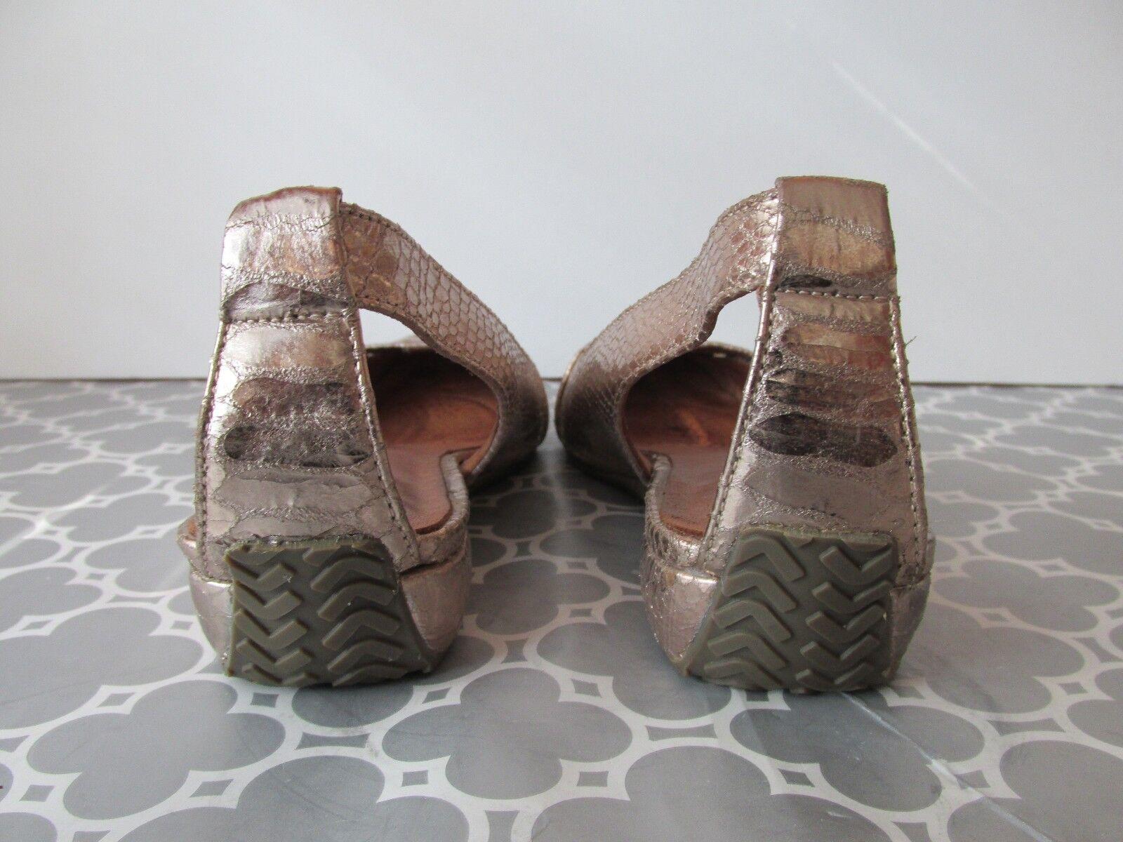 Gentle Souls Para Mujer Talla 8 es tan de diverdeida Piel de tan Serpiente en Relieve Slingback zapatos de cuña efec85